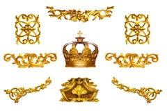 Detalhe dourado imagem de stock
