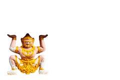 Detalhe dourado bonito da arquitetura do templo de Wat Thai, Photharam imagem de stock royalty free