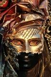 Detalhe dourado da máscara Fotos de Stock Royalty Free