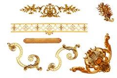 Detalhe dourado isolado imagem de stock