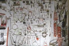 Detalhe e motivos principais diferentes do metal a bordo - projete elementos Foto de Stock