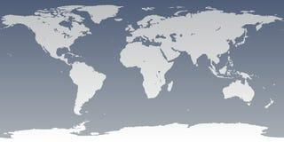 Detalhe elevado do mundo cinzento cinzento ilustração royalty free