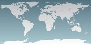 Detalhe elevado do mundo neutro ilustração do vetor