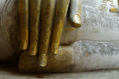 Detalhe, estátua de buddha Fotografia de Stock