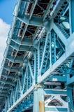 Detalhe estrutural de Benjamin Franklin Bridge Imagem de Stock Royalty Free