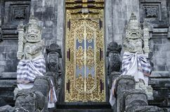 Detalhe exterior do templo hindu de Pura Goa Lawah em bali Indonésia Imagem de Stock Royalty Free