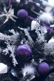 Detalhe extravagante da árvore de Natal Fotografia de Stock