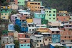 Detalhe favela cores vitoria santa helena. Detail poor houses color coloured brazil social project vitoria espirito santo neighborhood Royalty Free Stock Photos