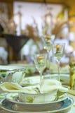 Detalhe festivo do ajuste da tabela Fotos de Stock Royalty Free