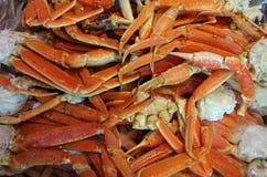 Detalhe gelado dos pés de caranguejo do rei Fotografia de Stock Royalty Free