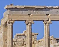 Detalhe grego do templo da ordem ionian antiga Foto de Stock Royalty Free