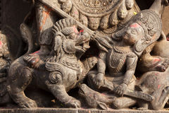 Detalhe Hindu da escultura Fotografia de Stock