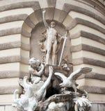 Detalhe Hofburg, Viena foto de stock
