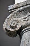 Detalhe iônico do capital de coluna Imagem de Stock