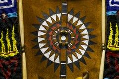 Detalhe indiano do traje do nativo americano colorido Foto de Stock Royalty Free