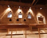 Detalhe interior da sala no forte de Al Masmak imagem de stock