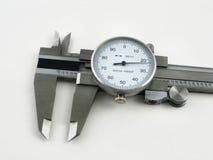 Detalhe isolado do compasso de calibre Fotos de Stock Royalty Free