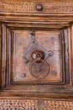 Detalhe italiano bonito da porta fotografia de stock