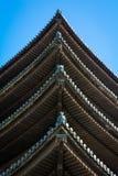 Detalhe japonês do telhado do pagode Imagem de Stock