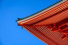 Detalhe japonês do telhado do templo Fotos de Stock Royalty Free