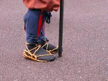 Detalhe japonês dos pés do guerreiro Imagem de Stock