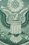 Detalhe macro da peça do dólar imagens de stock
