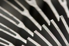 Detalhe macro de refrigerador do processador central, fundo fotografia de stock royalty free