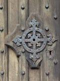 Detalhe medieval da porta Fotografia de Stock