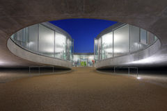 Detalhe moderno da arquitetura, Lausana, Switzerland foto de stock royalty free