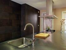 Detalhe moderno da cozinha Fotografia de Stock Royalty Free