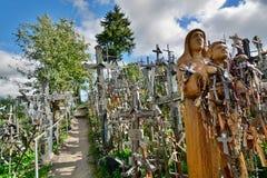 detalhe Monte das cruzes Siauliai lithuania Imagens de Stock