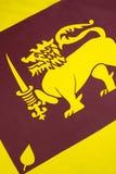 Detalhe na bandeira de Sri Lanka Imagem de Stock Royalty Free