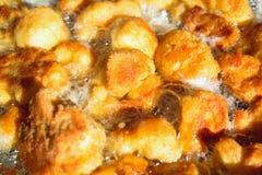 Detalhe na couve-flor fritada imagens de stock