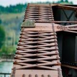 Detalhe na estrutura da ponte do ferro Foto de Stock Royalty Free