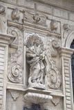 Detalhe na fachada da igreja da basílica de Mariacka; Krakow; Fotografia de Stock