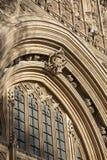 Detalhe na fachada das casas do parlamento, Westminster; Londres, Imagem de Stock