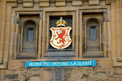 Detalhe no castelo de Edimburgo Fotografia de Stock Royalty Free