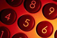 Detalhe numérico iluminado da almofada foto de stock royalty free