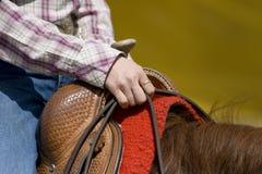Detalhe ocidental do equipamento da equitação Foto de Stock