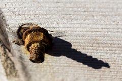 Detalhe oxidado da porca de parafuso Imagem de Stock Royalty Free