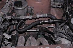 Detalhe oxidado velho do motor de automóveis, motor velho da oxidação Fotos de Stock Royalty Free
