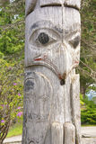 Detalhe, pólo de Totem Imagens de Stock