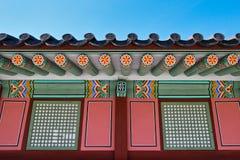 Detalhe - palácio de Gyeongbokgung Fotos de Stock