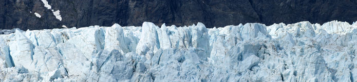 Detalhe panorâmico Alaska do close up do louro de geleira fotos de stock