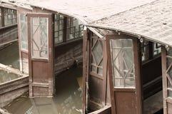 Detalhe particular de um barco chinês de madeira Imagens de Stock