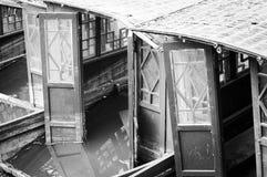 Detalhe particular de um barco chinês de madeira Imagem de Stock Royalty Free