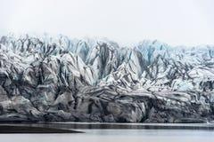 Detalhe pequeno de Skaftafellsjokull Fotos de Stock