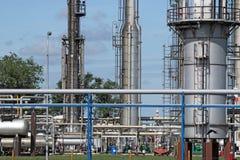 Detalhe petroquímica da fábrica Foto de Stock Royalty Free
