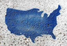 Detalhe pintado da forma dos EUA do freio imagem de stock royalty free