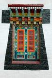 Detalhe pintado no monastério de Enchey fotografia de stock